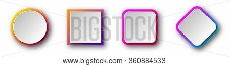 Various Shape Of Origami. Abstract Colorful Paper Background. Set Of Origami Banners With Shadow. Ve