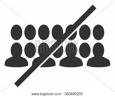 Vector No People Group Flat Icon. Vector Pictograph Style Is A Flat Symbol No People Group Icon On A