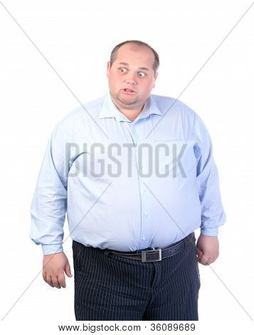 Fat Man In A Blue Shirt, Contorts Antics