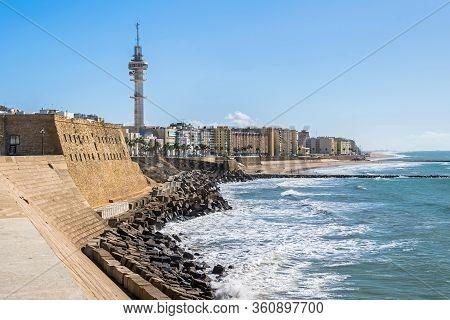 Seaside Promenade Avenida Fernandez Ladreda With A Telecommunications Tower Tavira Ii Tower Also Kno