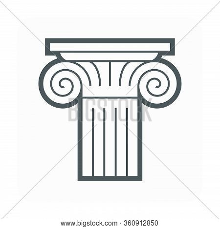 Moulding Crown And Cornice Icon Design On White.