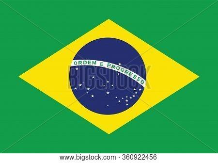 Brazil Flag Illustration,textured Background, Symbols And Official Flag Of Brazil,for Advertising ,p