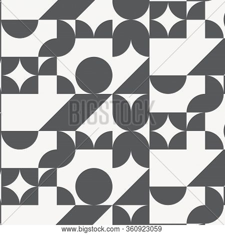 Geometric Vector Pattern With Geometric Shape On Square. Pattern Is Clean For Wallpaper, Fabric, Pri