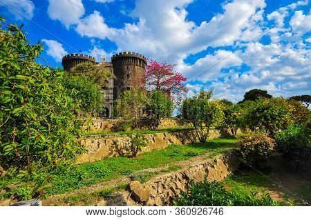 Castel Nuovo A Medieval Castle In Naples Italy