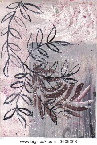 Art Multiple Leaves On Neutral