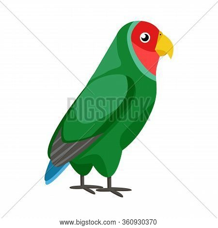 Vector Illustration Of Parrot And Green Logo. Set Of Parrot And Brazilian Vector Icon For Stock.