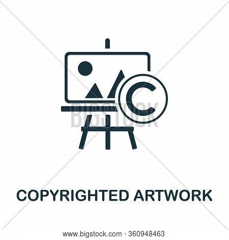 Copyrighted Artwork Icon. Simple Illustration From Digital Law Collection. Creative Copyrighted Artw
