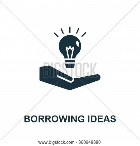 Borrowing Ideas Icon. Simple Illustration From Digital Law Collection. Creative Borrowing Ideas Icon