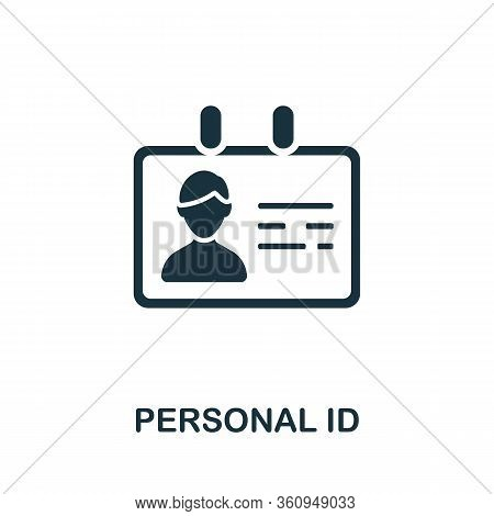 Personal Id Icon. Simple Illustration From Digital Law Collection. Creative Personal Id Icon For Web