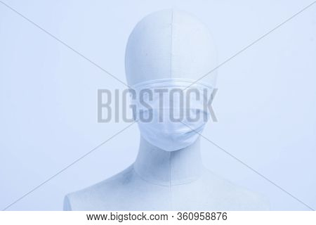 Doctor Mask And Corona Virus Protection On Mannequin Head - Image