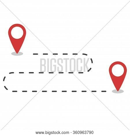 Map Locator. Pin Of Geo Infographic. Location Marks. Navigator Icon For Tourism. Pointer Icons For J