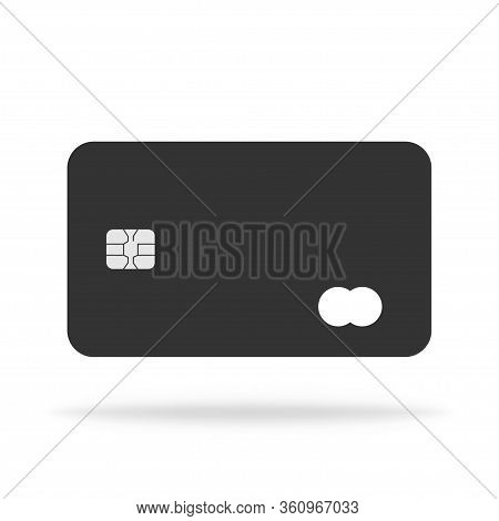 Bank Credit And Debit Card Icon. Payment Plastic Illustration Card In Flat Design. Money And Busines