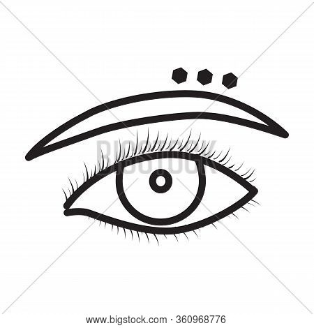 Eyebrow Of Piercing Vector Icon.outline Vector Icon Isolated On White Background Eyebrow Of Piercing