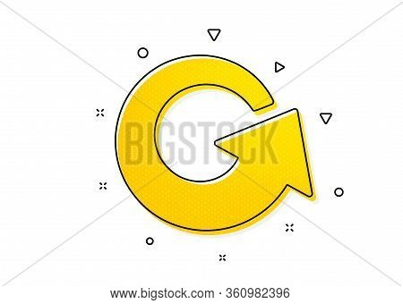 Update Arrowhead Symbol. Reload Arrow Icon. Navigation Pointer Sign. Yellow Circles Pattern. Classic