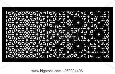 Decorative Vector Panel For Laser Cutting. Template For Interior Partition In Arabesque Style. Ratio