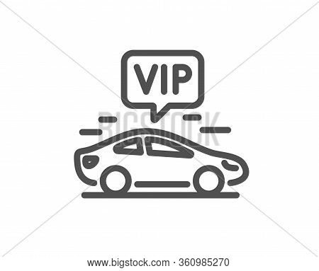 Vip Transfer Line Icon. Very Important Person Transport Sign. Luxury Taxi Symbol. Quality Design Ele