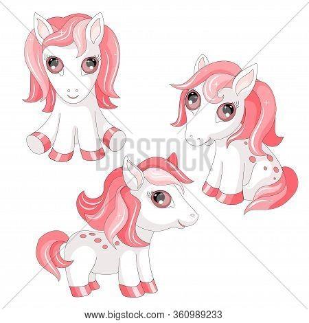 Pony Animal Pet  Horses Animals Children Illustration Vector