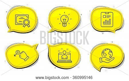 Drag Drop Sign. Diploma Certificate, Save Planet Chat Bubbles. Idea, Best Manager And Report Documen