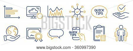 Set Of Education Icons, Such As Investment, Quickstart Guide. Certificate, Save Planet. Group, Horiz