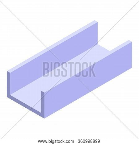 Structure Gutter Icon. Isometric Of Structure Gutter Vector Icon For Web Design Isolated On White Ba
