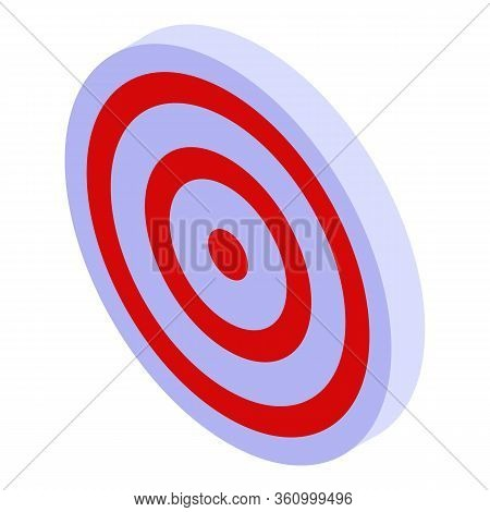 Arch Shooting Target Icon. Isometric Of Arch Shooting Target Vector Icon For Web Design Isolated On