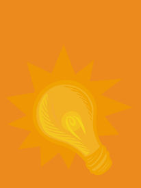 Illustration Of A Bright Lightbulb