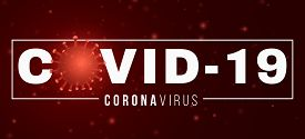 Coronavirus Banner. Covid 19. 3d Microbe With Light Effect And Text. Medical Concept. Sign And Symbo