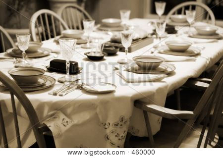 Formal Table Setting At Home
