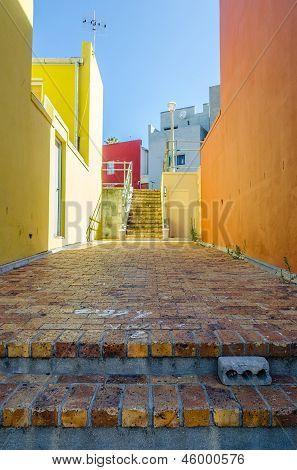Bo Kaap, Cape Town 076-alley