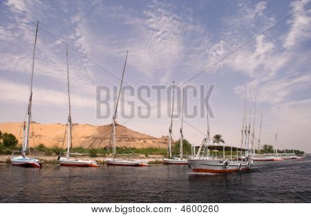 Boats At Aswan