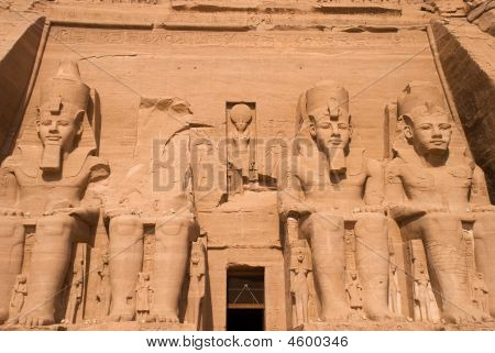 Statues At Abu Simbel