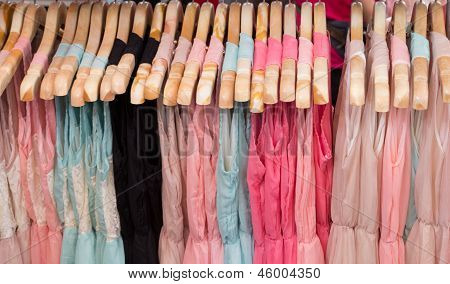Clothes In Hangers