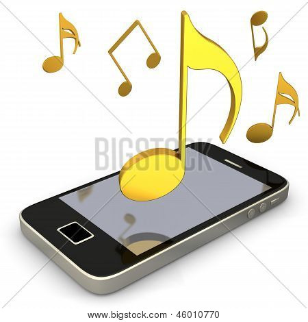 Smartphone Music Notes