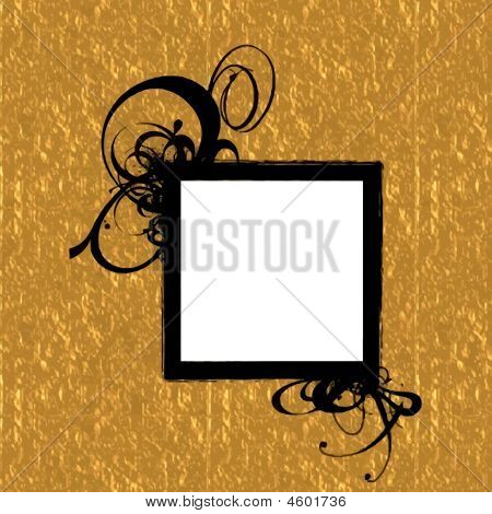 Gold Black Frame Background