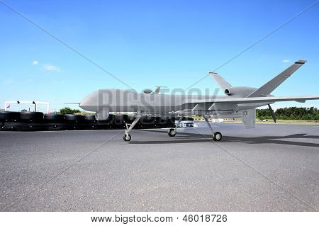 Predator Comabt Drone On Ground