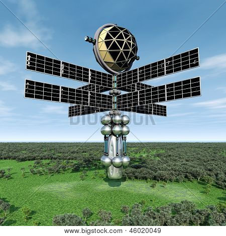 Earth Atmosphere with Space Probe