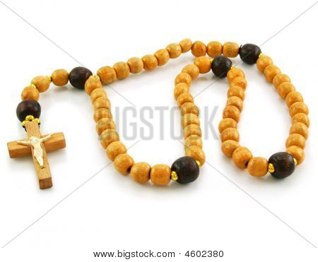Wooden Rosary And Cross