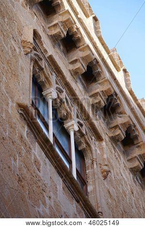 The facade of Palazzo Abatellis