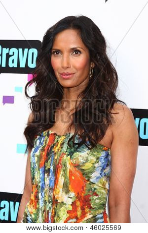 LOS ANGELES - MAY 22:  Padma Lakshmi arrives at the Bravo Media's 2013 For Your Consideration Emmy Event at the ATAS Leonard H. Goldenson Theater on May 22, 2013 in No. Hollywood, CA