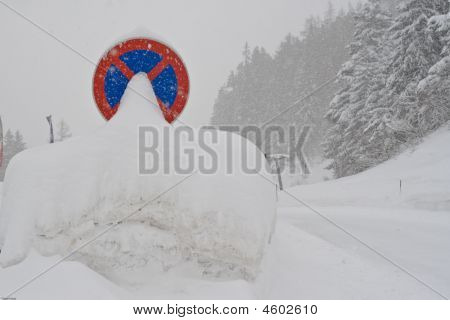 Covered Traffic Sign