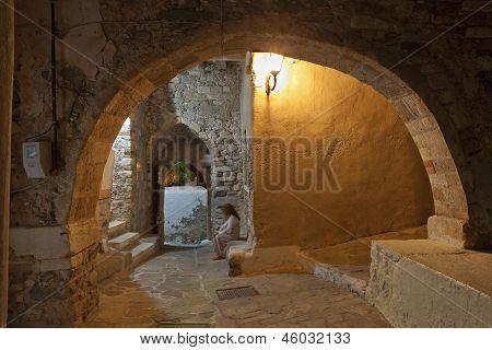 Castle of Naxos island in Greece