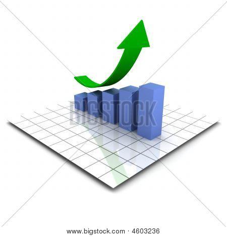 Bar Graph Rising (xxl)
