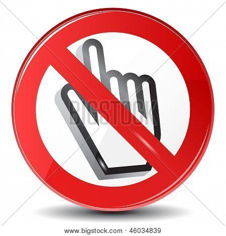 Web surfing forbidden, vector sign