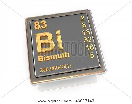Bismuth. Chemical element. 3d