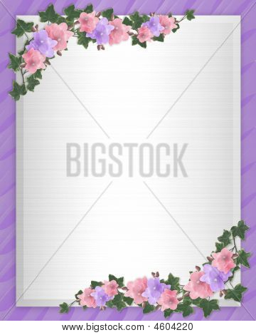 Orchids And Ivy Satin Background