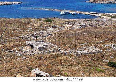 Delos island in Greece