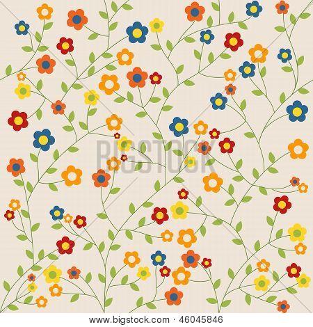 Cute Seamless Flowers