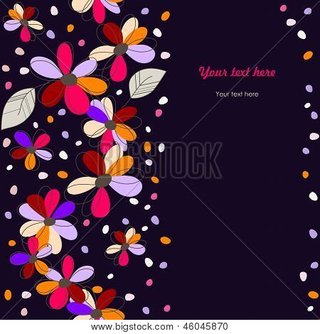 Colorful Seamless Floral Background