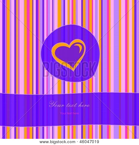 Striped Card With Heart