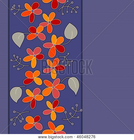 Seamless Floral Stripe